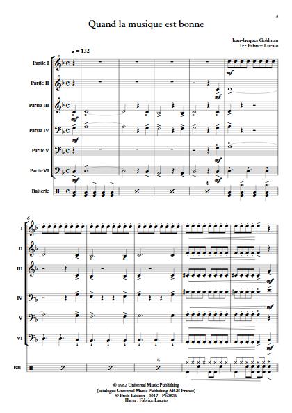 Quand la musique est bonne - Ensemble à Géométrie Variable - GOLDMAN J.J. - app.scorescoreTitle