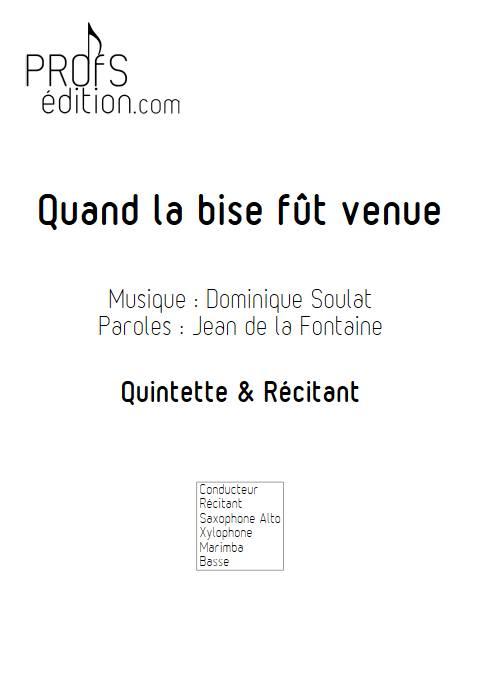 Quand la bise fût venue - Quintette - SOULAT D. - front page