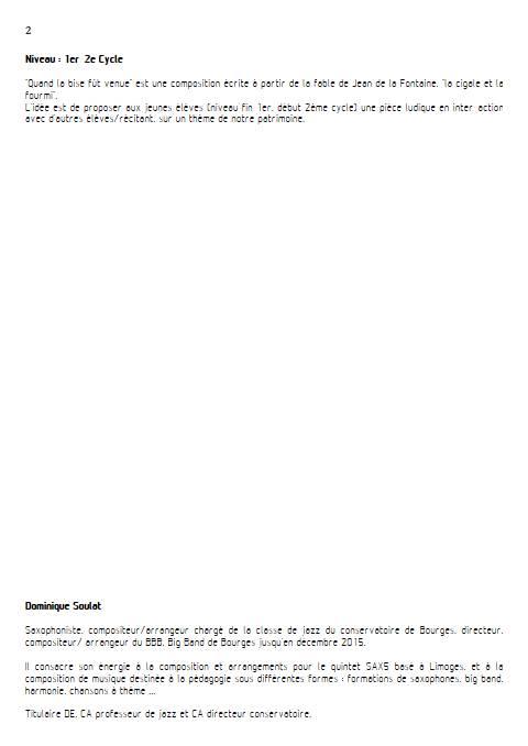 Quand la bise fût venue - Quintette - SOULAT D. - Educationnal sheet