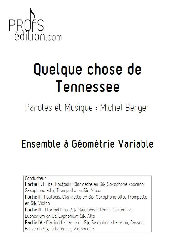 Quelque chose de tennesse - Ensemble Variable - BERGER M. - front page