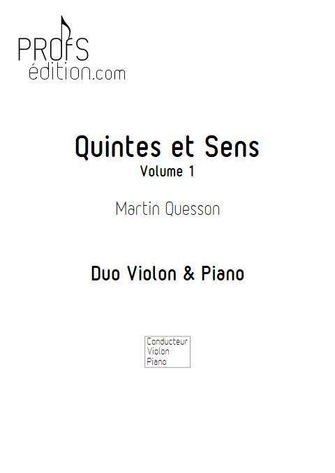 Quintes et Sens - Recueil 1 - Violon Piano - QUESSON M. - front page