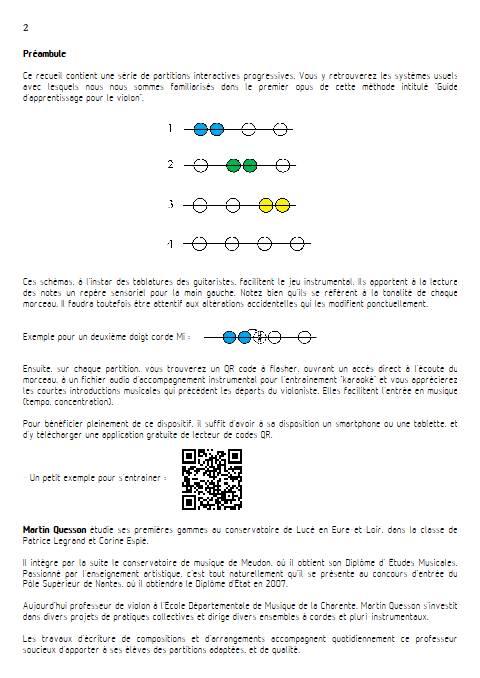 Quintes et Sens - Recueil 1 - Violon Piano - QUESSON M. - Educationnal sheet