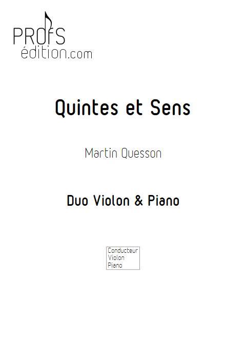 Quintes et Sens - Recueil 2 - Violon Piano - QUESSON M. - front page
