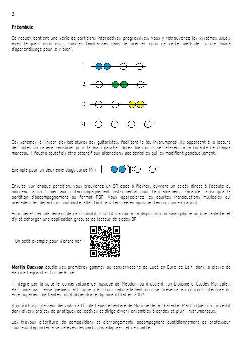 Quintes et Sens - Recueil 2 - Violon Piano - QUESSON M. - Educationnal sheet