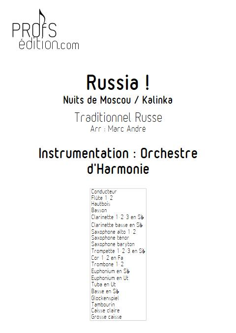 Russia - Orchestre d'Harmonie - TRADITIONNEL RUSSE - front page
