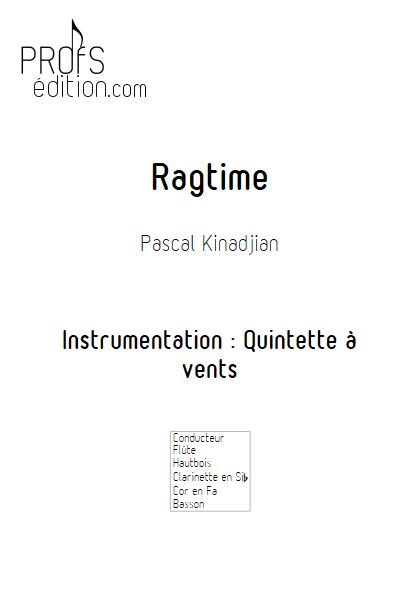 Ragtime - Quintette à vents - KINADJIAN P. - front page