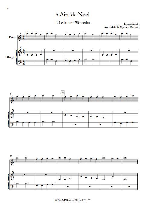 5 Airs de Noël - Flûte é Harpe/Piano - Traditionnel - app.scorescoreTitle