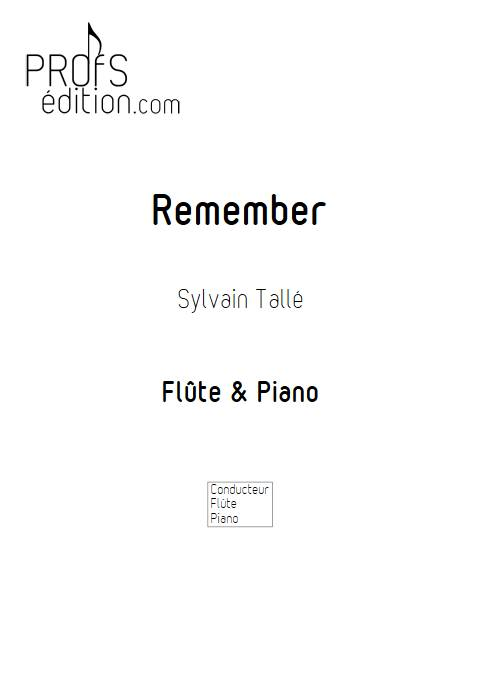 Remember - Flûte & Piano - TALLE S. - front page