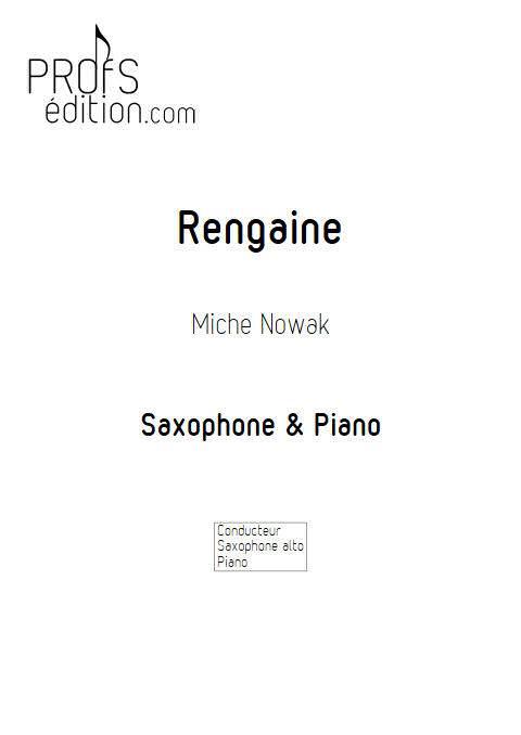 Rengaine - Saxophone Piano - NOWAK M. - front page