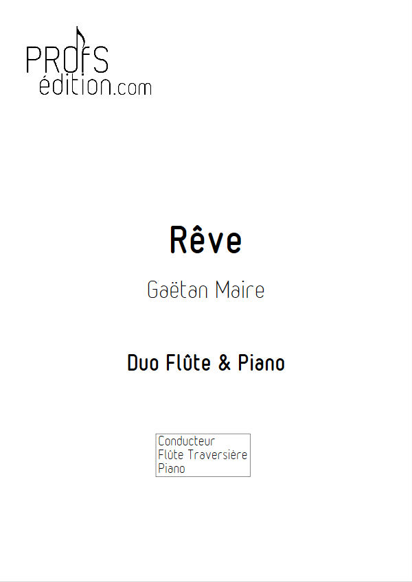 Rêve - Duo Flûte & Piano - MAIRE G. - front page