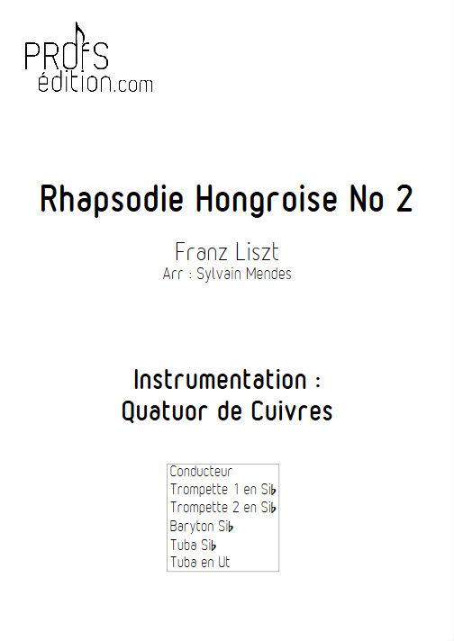 Rhapsodie Hongroise N°2 - Quatuor Cuivres - LISZT F. - front page