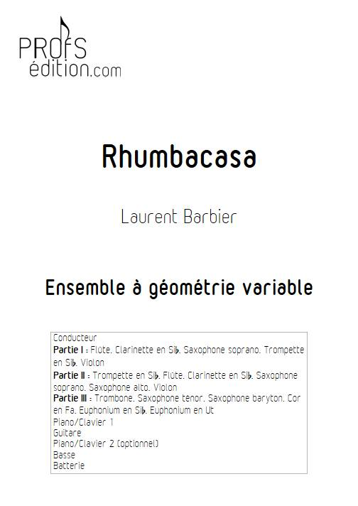 Rhumbacasa - Ensemble Variable - BARBIER L. - front page