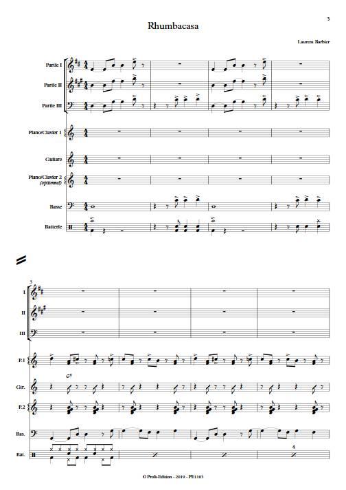 Rhumbacasa - Ensemble Variable - BARBIER L. - app.scorescoreTitle