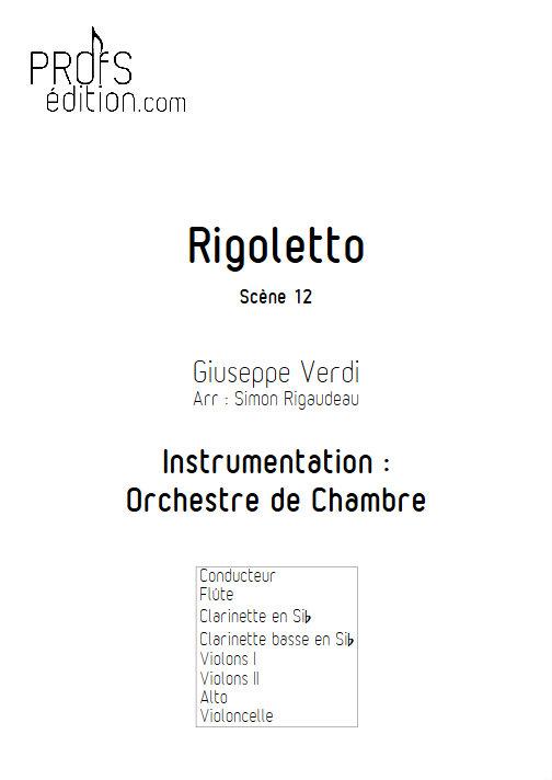 Rigoletto (Scène 12) - Orchestre de Chambre - VERDI G. - front page