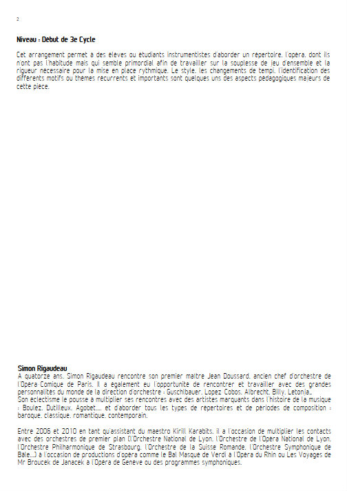 Rigoletto (Scène 12) - Orchestre de Chambre - VERDI G. - Educationnal sheet