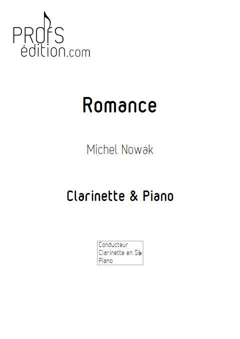 Romance pour clarinette - Clarinette & Piano - NOWAK M. - front page