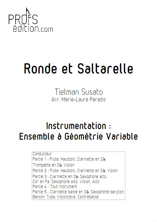 Ronde et Saltarelle - Ensemble à Géométrie Variable - SUSATO T. - front page