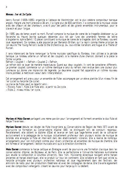 Rondeau - Ensemble de Flûtes - TRADITIONNEL - Educationnal sheet