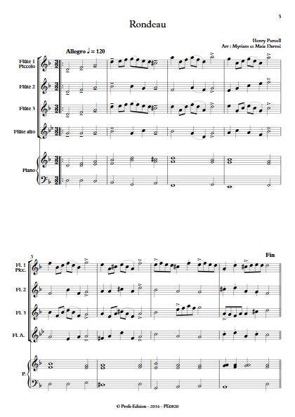 Rondeau - Ensemble de Flûtes - TRADITIONNEL - app.scorescoreTitle