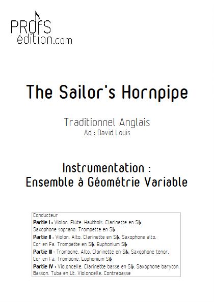 Sailor Hornpipe - Ensemble à Géométrie Variable - TRADITIONNEL ANGLAIS - front page
