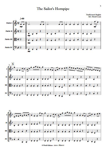 Sailor Hornpipe - Ensemble à Géométrie Variable - TRADITIONNEL ANGLAIS - app.scorescoreTitle