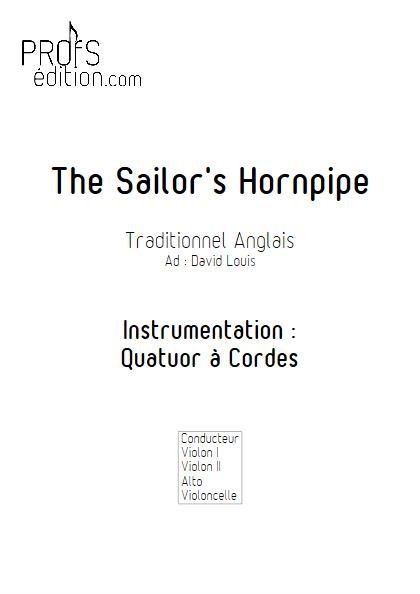 Sailor Hornpipe - Quatuor à Cordes - TRADITIONNEL ANGLAIS - front page