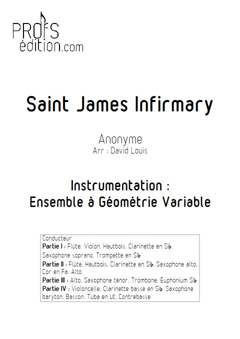 Saint James Infirmary - Ensemble à Géométrie Variable - ANONYME - front page