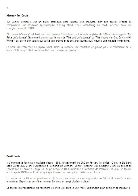 Saint James Infirmary - Ensemble à Géométrie Variable - ANONYME - Educationnal sheet