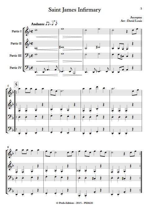 Saint James Infirmary - Ensemble à Géométrie Variable - ANONYME - app.scorescoreTitle