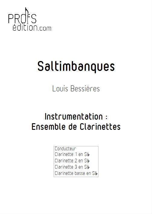 Saltimbanques - Ensemble de Clarinettes - BESSIERES L. - front page