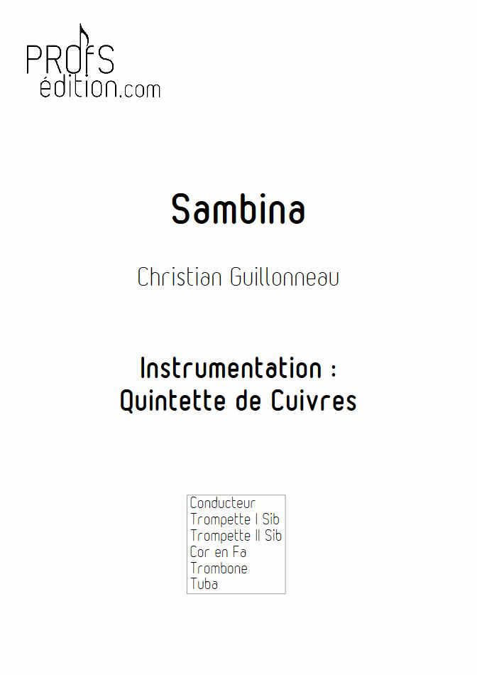 Sambina - Quintette de Cuivres - GUILLONNEAU C. - front page