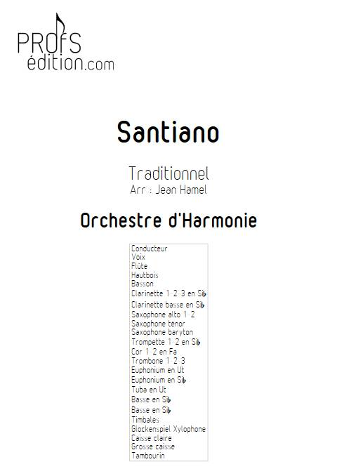 Santiano - Orchestre d'Harmonie - TRADITIONNEL - front page