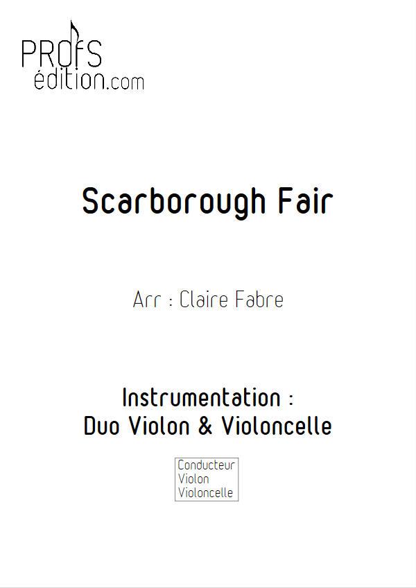 Scarborough Fair - Duo Violon Violoncelle - ANONYME - front page