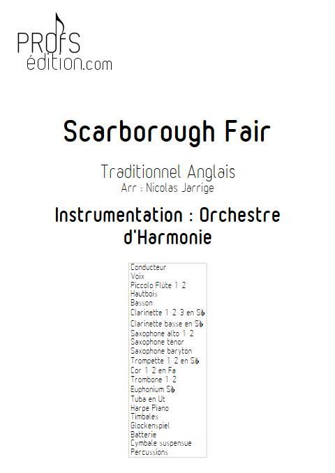 Scarborough Fair - Orchestre d'Harmonie - TRADITIONNEL ANGLAIS - front page
