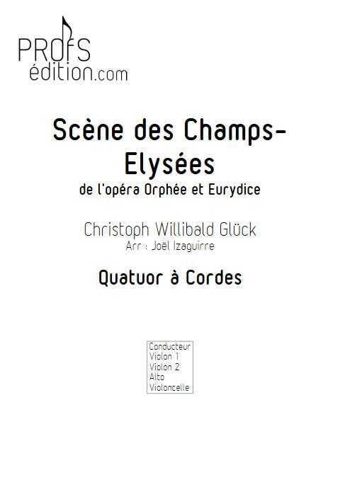 Scene des champs elysées - Quatuor à cordes - GLUCK W. - front page