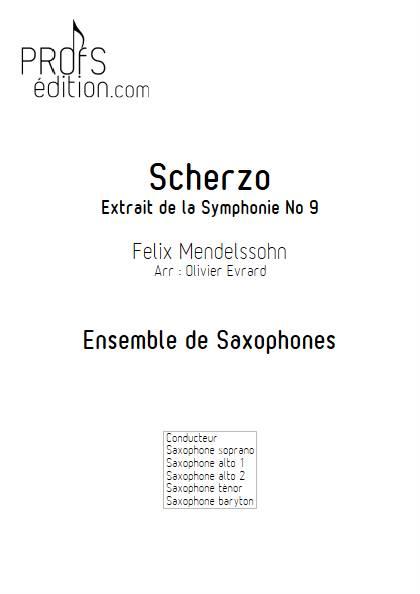Scherzo - Ensemble de Saxophones - MENDELSSOHN F. - front page