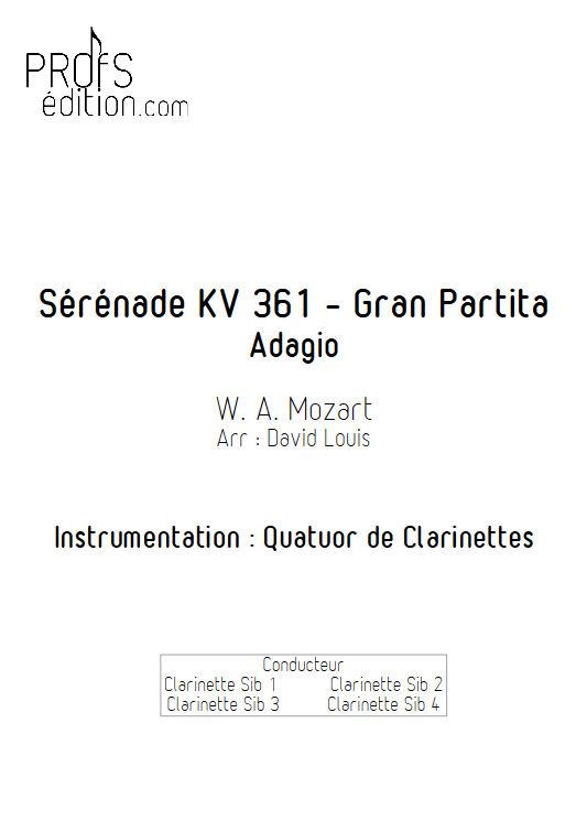 Sérénade KV 361 - Quatuor de Clarinettes - MOZART W. A. - front page