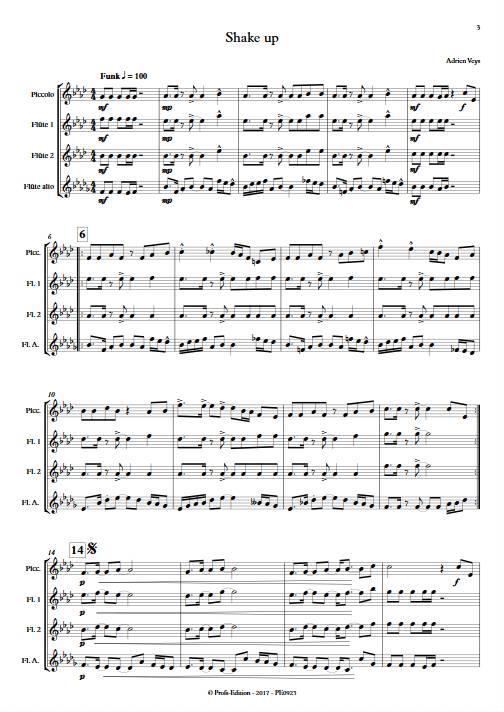 Shake Up - Quatuor de Flûtes - VEYS A. - app.scorescoreTitle