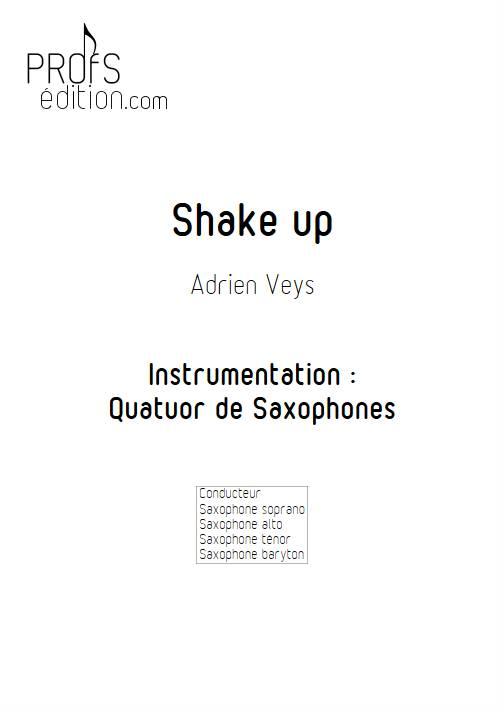 Shake Up - Quatuor de Saxophones - VEYS A. - front page