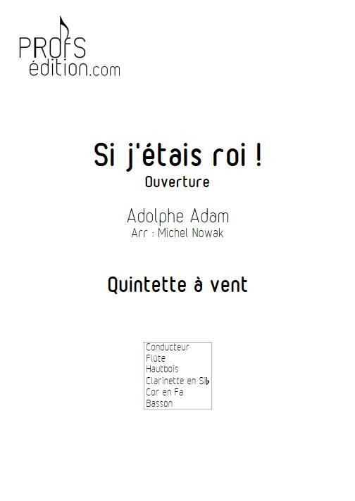 Si j'étais Roi - Quintette à vents - ADAM A. - front page