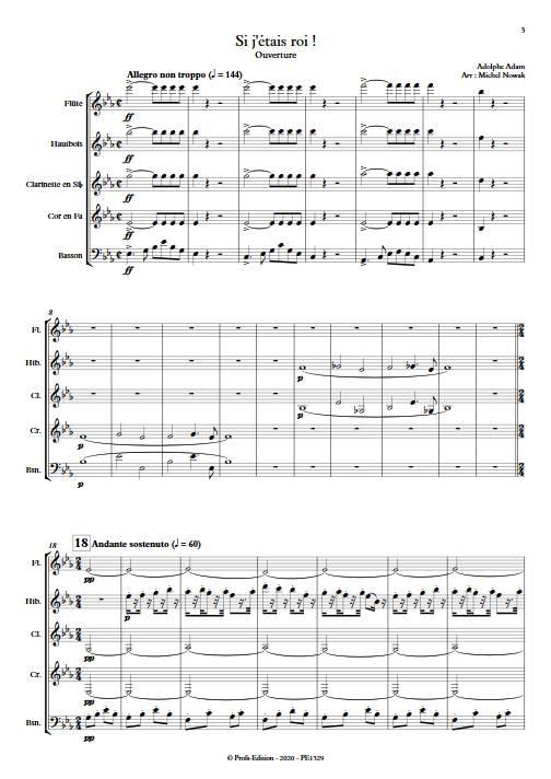 Si j'étais Roi - Quintette à vents - ADAM A. - app.scorescoreTitle