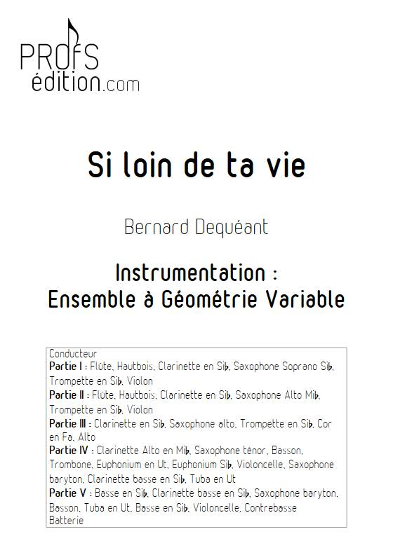 Si loin de ta vie - Ensemble Variable - DEQUEANT B. - front page