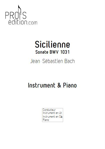 Sicilienne - Intrument & Piano - BACH J.S. - front page