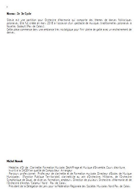 Silésie - Orchestre d'Harmonie - TRADITIONNEL POLONAIS - Educationnal sheet