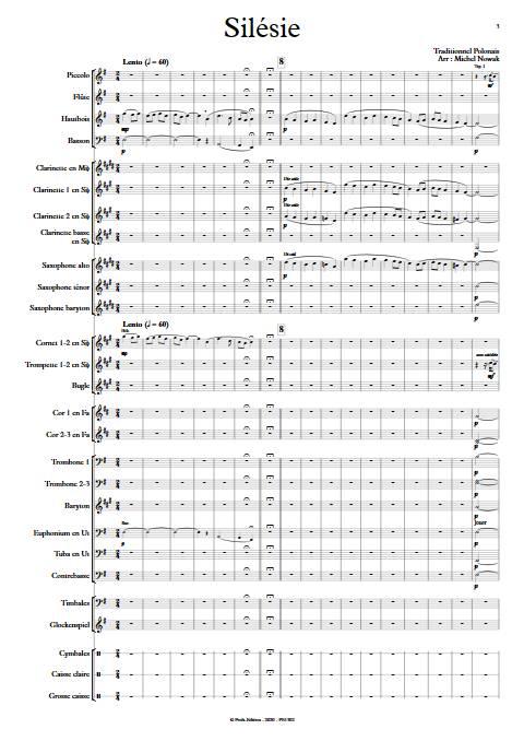 Silésie - Orchestre d'Harmonie - TRADITIONNEL POLONAIS - app.scorescoreTitle