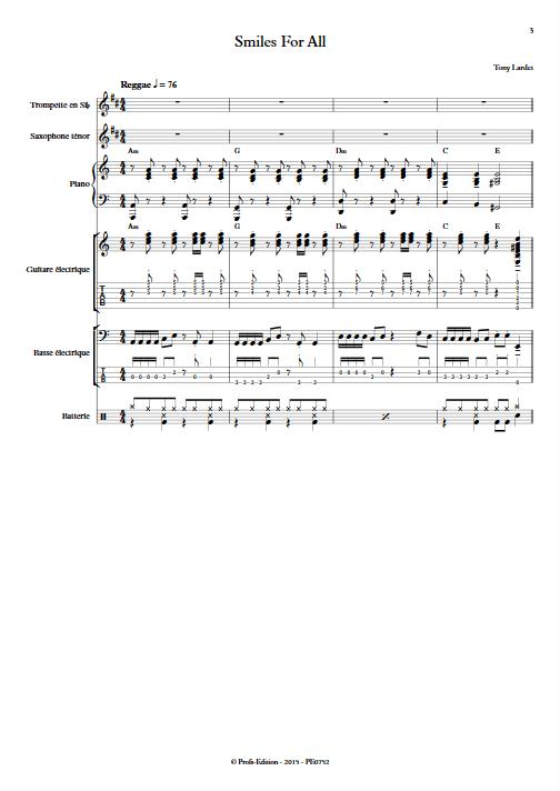 Smiles for All - Musique Actuelle - LARDET T. - app.scorescoreTitle