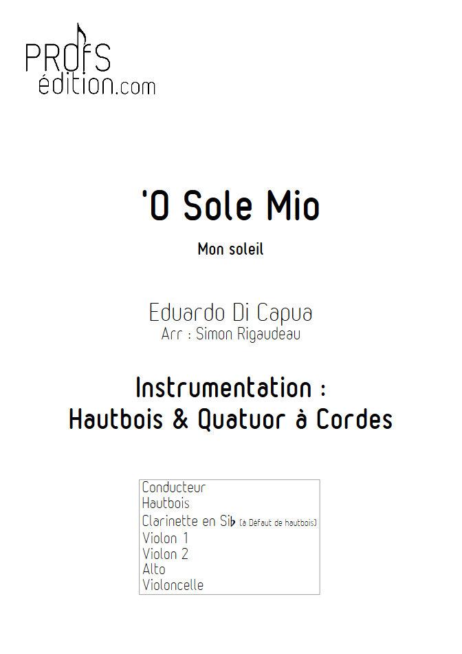 O Sole Mio - Hautbois et Quatuor à Cordes - Di CAPUA E. - front page