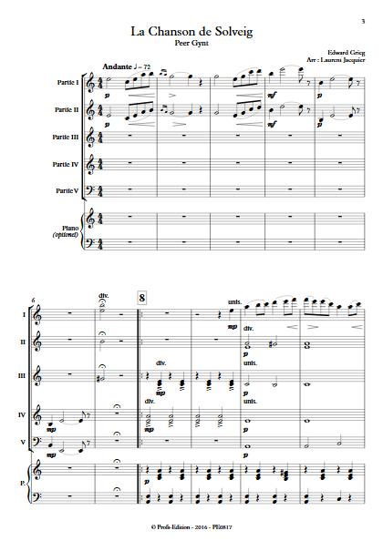 Chanson de Solveig - Ensemble à Géométrie Variable - GRIEG E. - app.scorescoreTitle