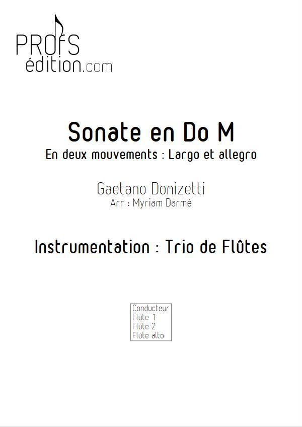 Sonate en Do Majeur - Trio de flûtes - DONIZETTI G. - front page