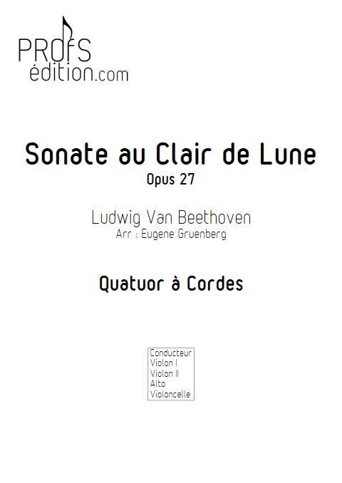 Sonate au Clair de Lune - Quatuor à Cordes - BEETHOVEN L. V. - front page